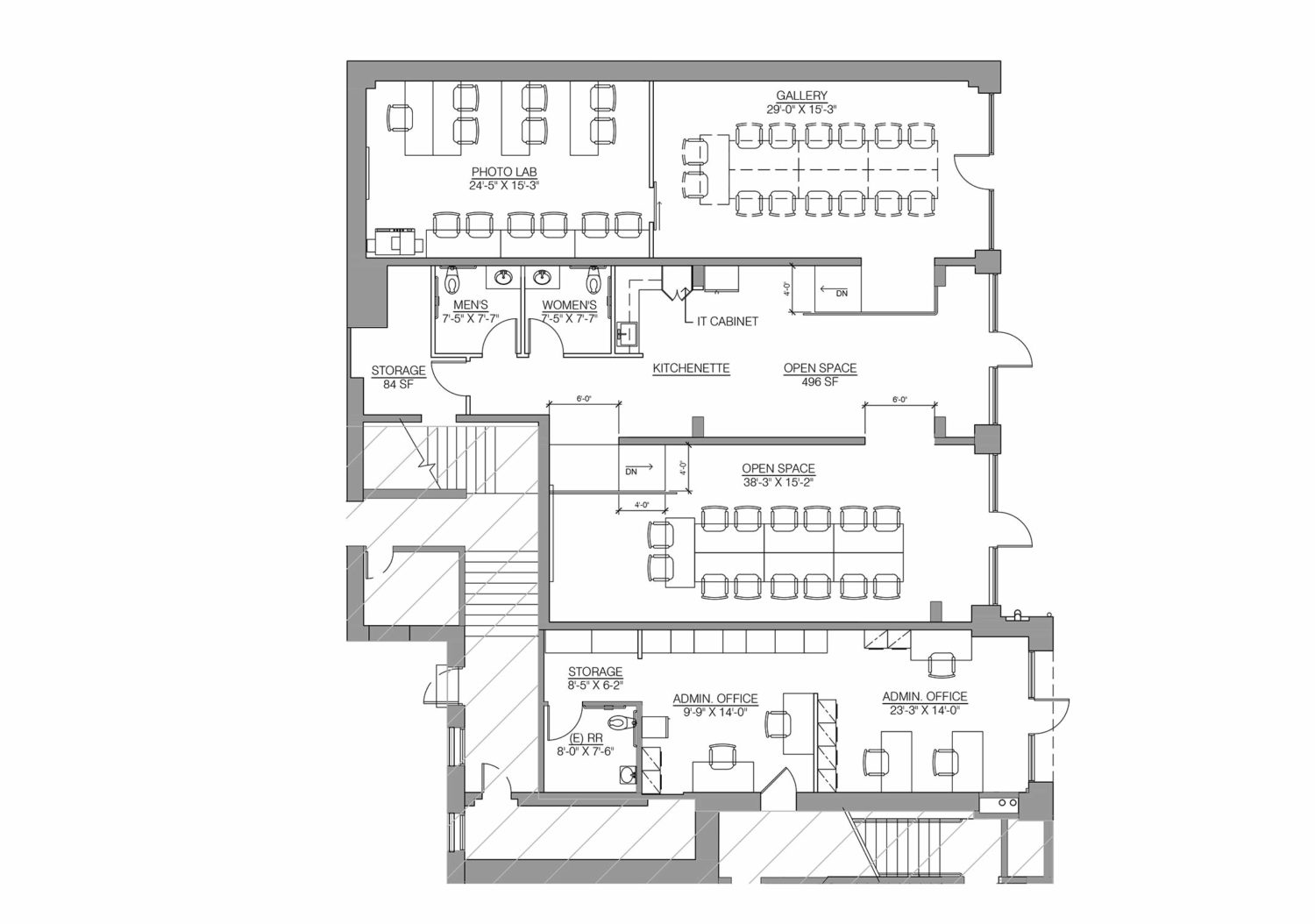 Floor plan of the Los Angeles Center of Photography