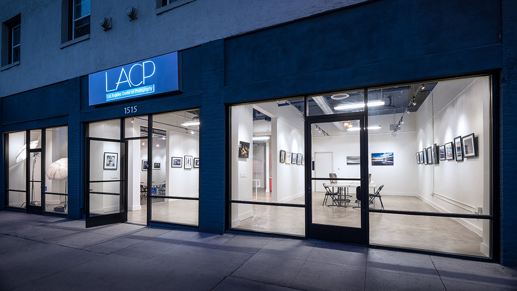 An outside view of the Los Angeles Center of Photography's art galleries
